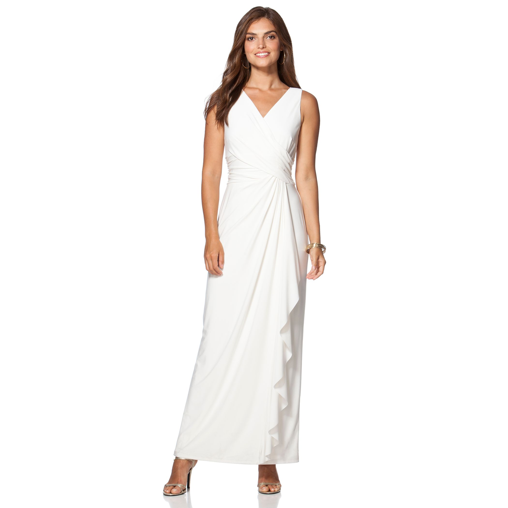 White maxi dress size 14