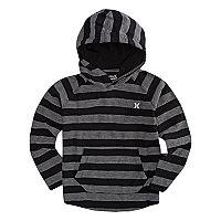 Boys 4-7 Hurley Herringbone Striped Hooded Tee