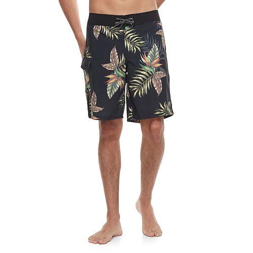 Men's Ocean Current Slim-Fit Leaf Cargo Board Shorts