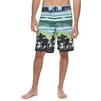 Men's Ocean Current Tropical Tech Cargo Board Shorts