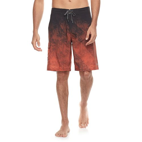 Men's Ocean Current Palm Tree Tech Cargo Board Shorts