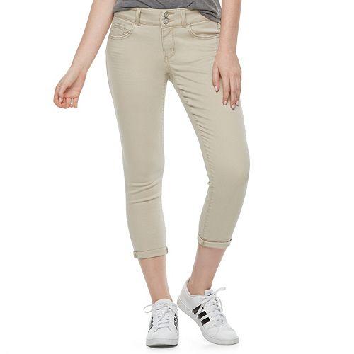 Juniors' SO® Twill Cropped Leggings
