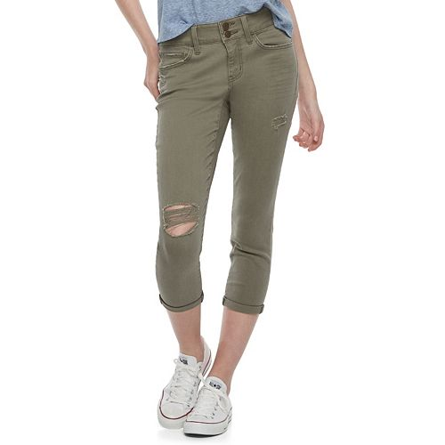 Juniors' SO® Twill Cropped Leggings