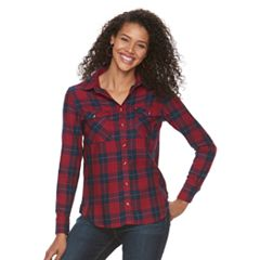 Women's Lee Plaid Logo Boyfriend Shirt