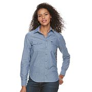 Women's Lee Chambray & Floral Top
