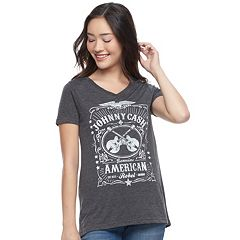 Juniors' Johnny Cash 'American Rebel' Graphic Tee