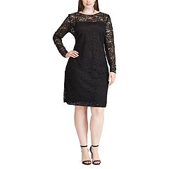 Plus Size Chaps Lace Overlay Sheath Dress