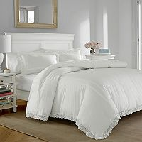 Laura Ashley Lifestyles Annabella Crochet Duvet Cover Set