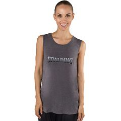 Women's Spalding Sleeveless Logo Graphic Tee