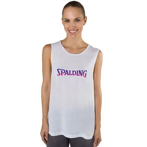 Women's Spalding Sleeveless Ombre Logo Graphic Tee