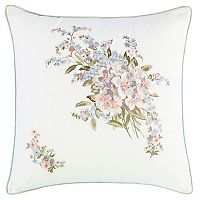 Laura Ashley Lifestyles Harper Embroidered Throw Pillow