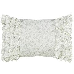 Laura Ashley Lifestyles Harper Ruffled Breakfast Pillow