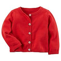 Baby Girl Carter's Sparkly Button Cardigan