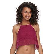 Mix and Match Popover Crochet High Neck Bikini Top