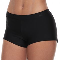 Mix and Match Solid Boyshort Swim Bottoms