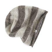 Women's SIJJL Wool Striped Slouchy Beanie