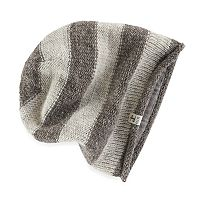 Women's SIJJL Wool Striped Slouchy Beanie
