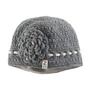 Women's SIJJL Wool Crochet Sequined Flower Beanie