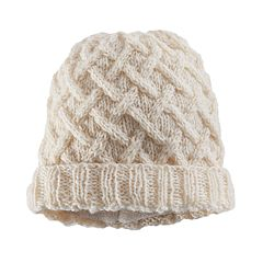 Women's SIJJL Wool Crochet Lattice Beanie