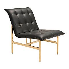 Zuo Modern Slate Faux-Leather Lounge Accent Chair