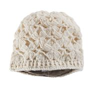 Women's SIJJL Wool Crochet Floral Beanie