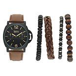 Men's American Exchange Watch & Bracelet Set