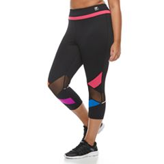 Plus Size FILA SPORT®  Colorblock Mesh Insert Capri Leggings