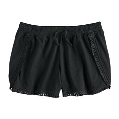 Girls 7-16 SO® Tassel Fringe Soft Shorts