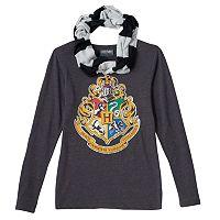 Girls 7-16 Hogwarts House Scarf Tee