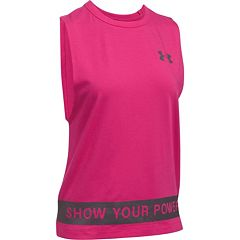 Women's Under Armour Power In Pink 'Show Your Power' Graphic Tank