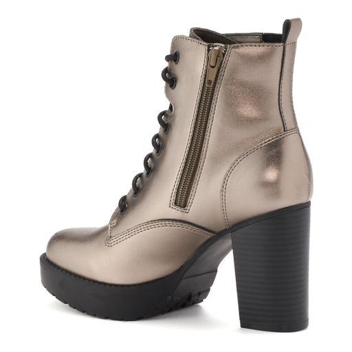 madden NYC Josiee Women's High Heel Combat Boots