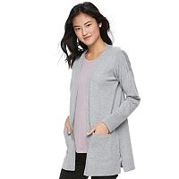 Juniors' Pink Republic Strappy Side Vent Cardigan