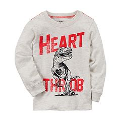 Toddler Boy Carter's Dinosaur 'Heart Throb' Long Sleeve Graphic Tee