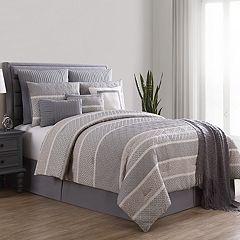 VCNY Geometric Stripe 10-piece Jacquard Comforter Set