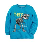 "Toddler Boy Carter's Dinosaur ""T-Rex"" Skeleton Graphic Tee"