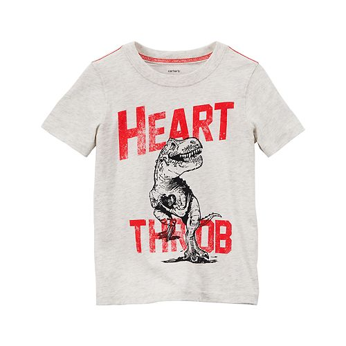 "Toddler Boy Carter's Dinosaur ""Heart Throb"" Short Sleeve Graphic Tee"