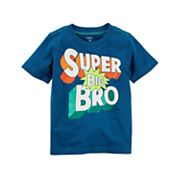 Toddler Boy Carter's 'Super Big Bro' Short Sleeve Graphic Tee