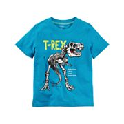 Toddler Boy Carter's Dinosaur 'T-Rex' Skeleton Short Sleeve Graphic Tee
