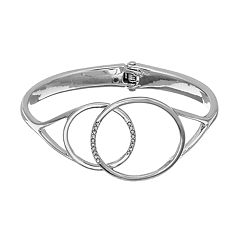 Simply Vera Vera Wang Overlapping Circle Hinged Bangle Bracelet