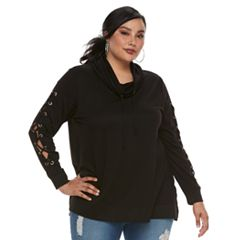 Plus Size French laundry Cowlneck Top