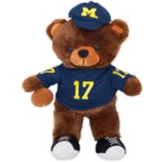 Forever Collectibles Michigan Wolverines Locker Buddy Teddy Bear Set