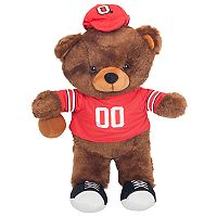 Forever Collectibles Ohio State Buckeyes Locker Buddy Teddy Bear Set