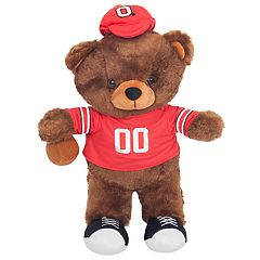 Forever Collectibles Ohio State Buckeyes Locker Buddy Teddy Bear Set