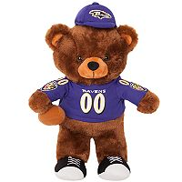 Forever Collectibles Baltimore Ravens Locker Buddy Teddy Bear Set