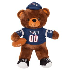 Forever Collectibles New England Patriots Locker Buddy Teddy Bear Set
