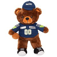 Forever Collectibles Seattle Seahawks Locker Buddy Teddy Bear Set