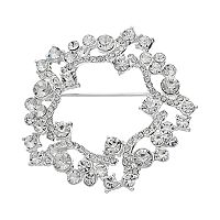 Dana Buchman Simulated Crystal Wreath Pin