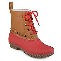 Journee Collection Matilda Girls' Water Resistant Winter Duck Boots