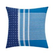 Under the Canopy Shibori Chic Patchwork Throw Pillow