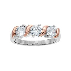 Lily & Lace Two Tone Cubic Zirconia S Ring
